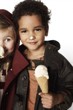Burberry's kids' campaign.