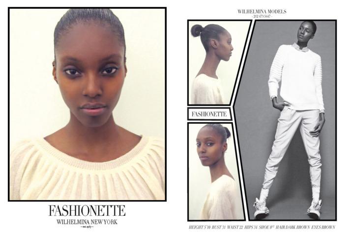 Courtesy of Wilhemina Models.