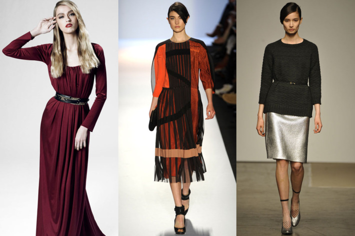 From left: new looks from Z Spoke by Zac Posen, BCBG Max Azria, Rachel Comey.