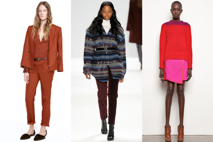 From left: Looks from Jenni Kayne, Richard Chai Love, and M. Patmos