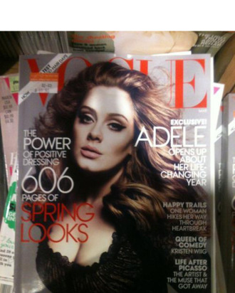 Adele's <em>Vogue</em> cover.