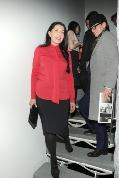 Marina Abramovic, Hamish Bowles==CoSTUME NATIONAL, ENNIO CAPASA, MARINA ABRAMOVIC and WILLEM DAFOE Celebrate Tim Hailand's One Day in the Life of Robert Wilson's The Life and Death of Marina Abramovic==Private Residence, NYC==February 12, 2012.