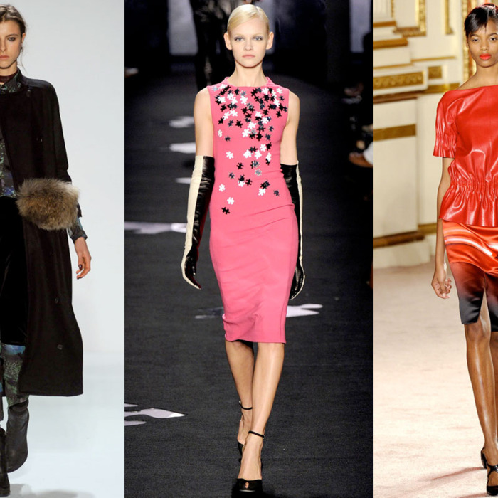 Looks from Timo Weiland, Diane Von Furstenberg, and Thakoon.