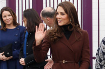 Catherine, Duchess of Cambridge arrives at Liverpool charity The Brink on February 14, 2012 in Liverpool, England. Catherine, The Duchess of Cambridge is in Liverpool visiting charities in the city without husband Prince William who is serving in the Falklands. During the visit to The Brink, an alcohol free bar, she was presented with a Valentine's Day cupcake, cards and flowers by eight-year-old Jaqson Johnston-Lynch. Later she is to visit Alder Hey Children's Hospital and Ronald McDonald House.