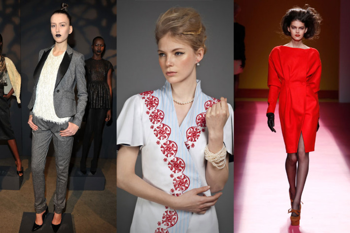 Fall 2012 looks by Tribune Standard, Maison Murasaki, and Chadwick Bell.