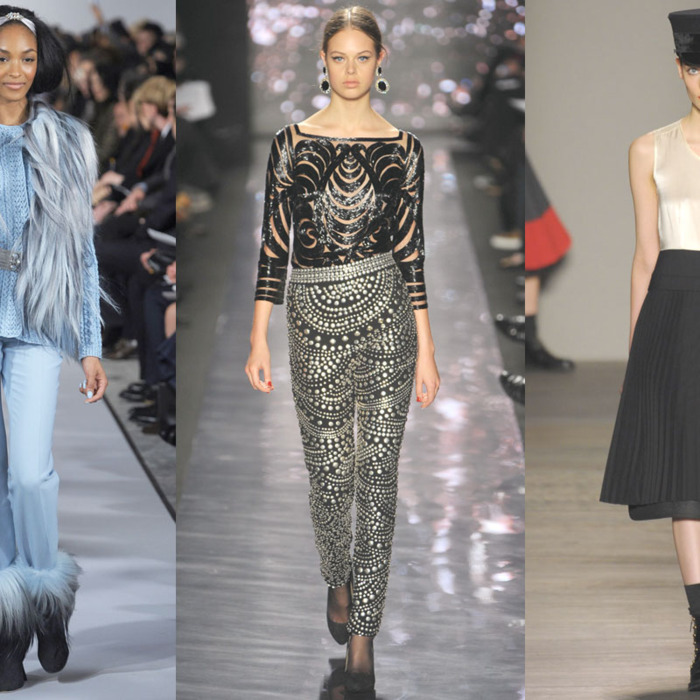 Looks from Oscar de la Renta, Naeem Khan, and Marc by Marc Jacobs.