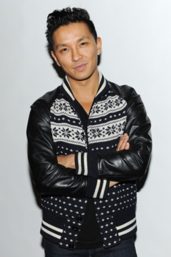Gurung and his favorite jacket.
