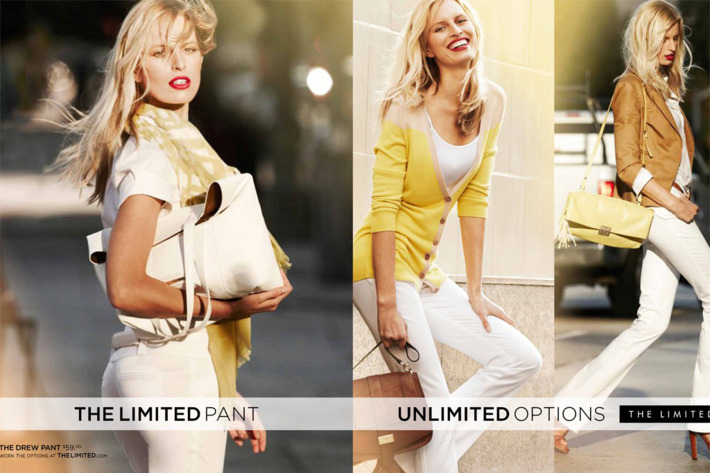 Karolina Kurkova's ads for The Limited.