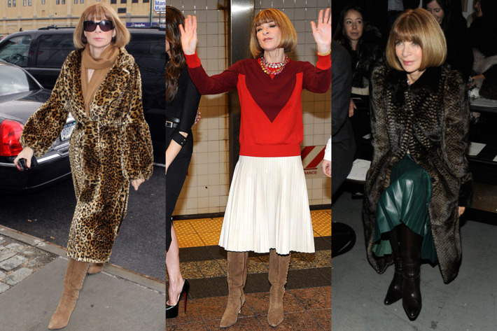 Anna Wintour, out and about this week.