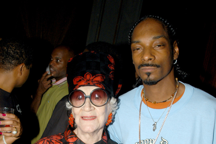 Zelda Kaplan and Snoop Dogg