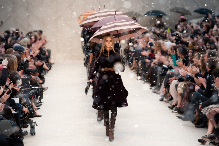 Burberry's fall 2012 finale.