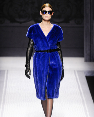 A look from Alberta Ferretti's fall 2012 collection.