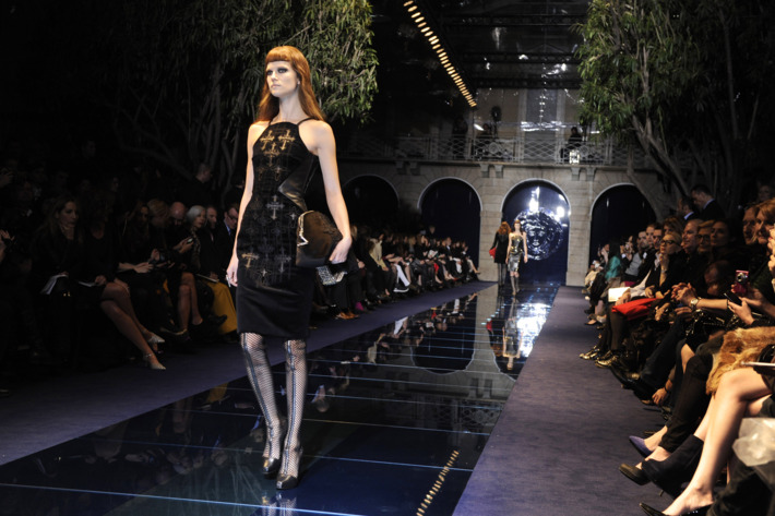Versace's fall 2012 show.