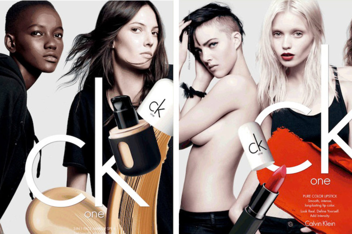 Ruby Aldridge and Abbey Lee Kershaw for CK One cosmetics.