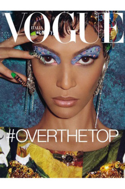 Joan Smalls, shot by Steven Meisel.