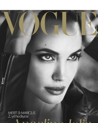 Jolie for Turkish <em>Vogue</em>.