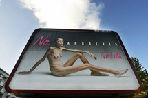 An anti-anorexia billboard in Italy.