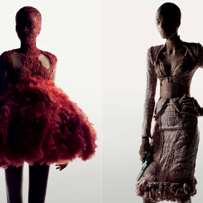 McQueen spring 2012 designs, photographed by Fabien Baron.