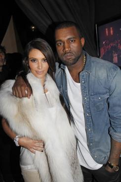Kim Kardashian, Kanye West, and