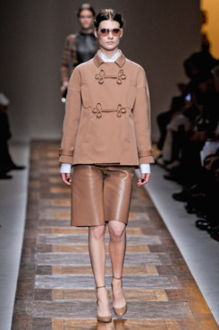 Leather culottes at Valentino