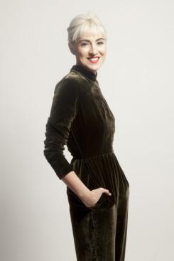 Idil Tabanca, wearing Suzanne Rae.