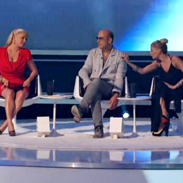 Nicole Richie tells her fellow mentors one contestant's pants looked like they were grabbing their models' vaginas. Inappropriate behavior on both counts, really.