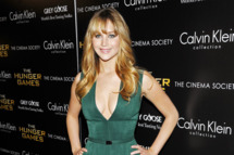 "Jennifer Lawrence (Wearing Calvin Klein) The Cinema Society & Calvin Klein Collection host a screening of ""The Hunger Games"""
