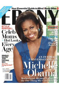 Michelle Obama for <em>Ebony</em>.