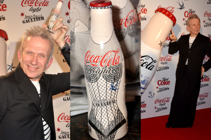 Jean Paul Gaultier and his (sexy?) Diet Coke bottles.