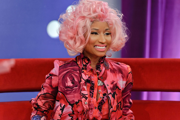 Nicki Minaj, surely smelling like something.