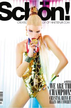 Crystal Renn for <em>Schön!</em> magazine .