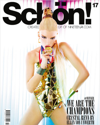 Crystal Renn for <em>Schön!</em> magazine .