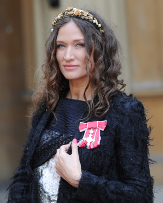 LONDON, ENGLAND - MARCH 22: Lulu Kennedy after she was made an Member of the British Empire (MBE) by Queen Elizabeth II at an Investiture ceremony in Buckingham Palace on March 22, 2012 in London, England. (Photo by Stefan Rousseau - WPA Pool/Getty Images)