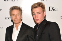 """Designer Calvin Klein (L) and Nick Gruber attend Dior and The Weinstein Company's Opening Of """"Picturing Marilyn""""  at Milk Gallery on November 9, 2011 in New York City."""