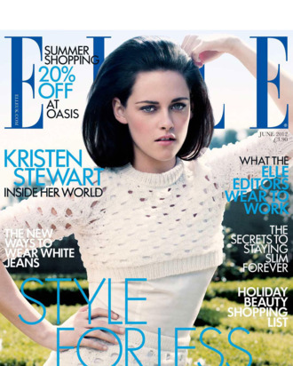Kristen Stewart for <em>Elle</em> UK.