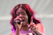INDIO, CA - APRIL 14: Rapper/singer Azealia Banks performs onstage during day 2 of the 2012 Coachella Valley Music & Arts Festival at the Empire Polo Field on April 14, 2012 in Indio, California. (Photo by Karl Walter/Getty Images for Coachella)