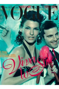 Linda Evangelista for <em>Vogue Italia</em>.