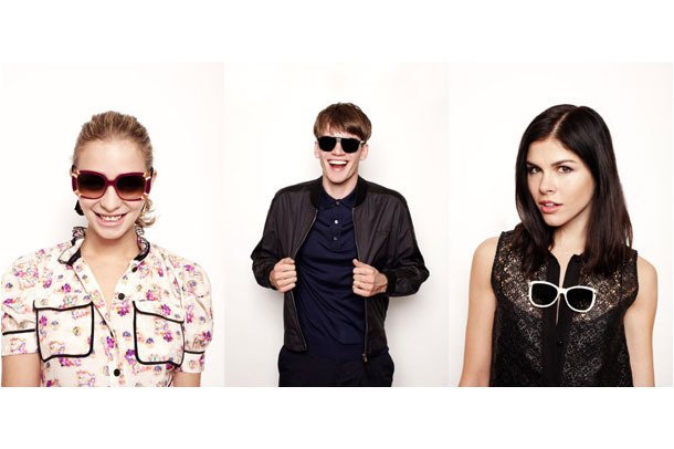 Annabelle Dexter-Jones, Tom Guinness, and Emily Weiss model for Louis Vuitton.