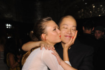 NEW YORK, NY - SEPTEMBER 09:  Karlie Kloss and designer Jason Wu attend St. Regis Hotels & Resorts Celebrates the Announcement of Jason Wu As The Next St. Regis Connoisseur and Jason Wu's Spring/Summer 2012 Collection at St. Regis Hotel on September 9, 2011 in New York City.  (Photo by Dimitrios Kambouris/WireImage for Starwood)