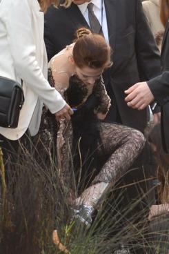 Kristen, going for comfort.