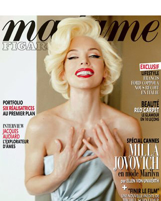 Milla Jovovich for <em>Madame Figaro</em>.