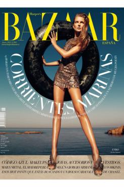 Eniko Mihalik for <em>Harper's Bazaar</em> Spain.