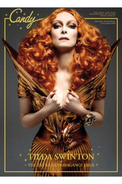 Tilda Swinton, shot by Xevi Muntane for <em>Candy</em> magazine.
