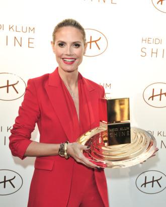 Heidi Klum at her Shine fragrance launch last year.