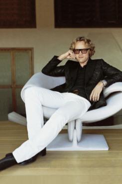 Peter Dundas, photographed for <em>Harper's Bazaar</em>.
