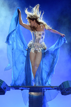 LAS VEGAS, NV - MAY 26:  Singer/actress Jennifer Lopez performs during the Q'Viva! The Chosen Live show at the Mandalay Bay Events Center on May 26, 2012 in Las Vegas, Nevada.  (Photo by Ethan Miller/Getty Images)