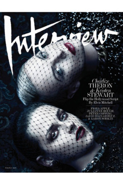 Charlize Theron and Kristen Stewart on the cover of <em>Interview.</em>