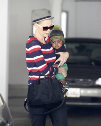Charlize Theron takes her son Jackson to a checkup at the doctor's office in Beverly Hills, California on June 11, 2012.