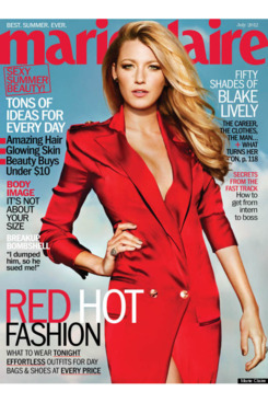 Blake Lively for July's <em>Marie Claire</em>.