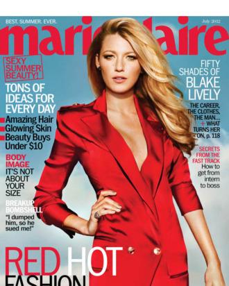 Blake Lively for July's <em>Marie Claire</em>.
